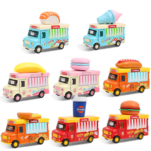 Baby Pull Back Dinning Car Toy With Sensor 1: 36 Cute Ice Cream Pizza Sushi Touch to Singing & Light Alloy Food Children