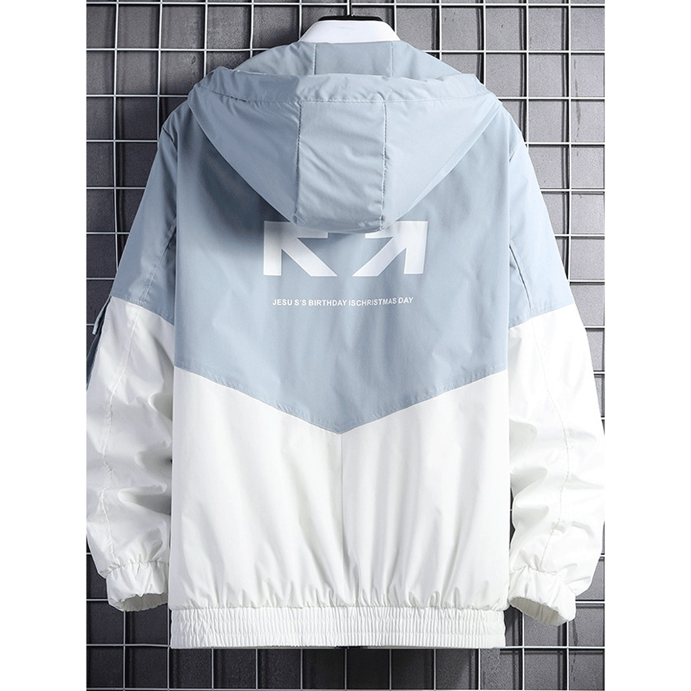 2020 Lente En Herfst Kleding Mannen Jas Maat 3XL Uitloper Kapmantel Slim Parka Mannen Hooded Fashion Gedrukt Jacket