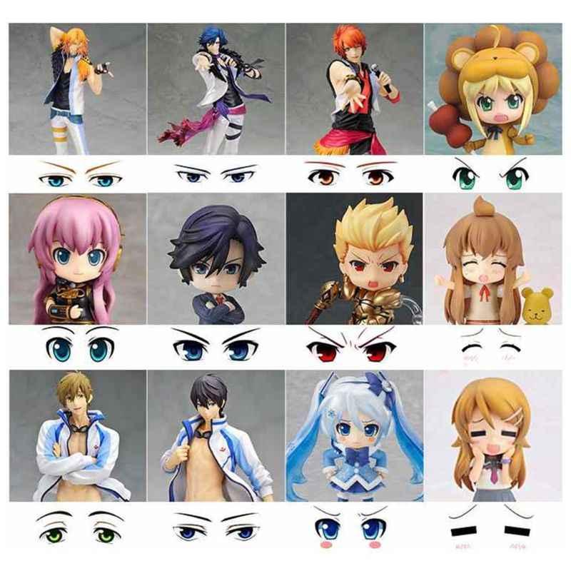 Bonito Dos Desenhos Animados Olhos Anime Estatueta Bonecas Olho Agua Adesivos Para Diy Boneca Acessorios Bonecas Aliexpress