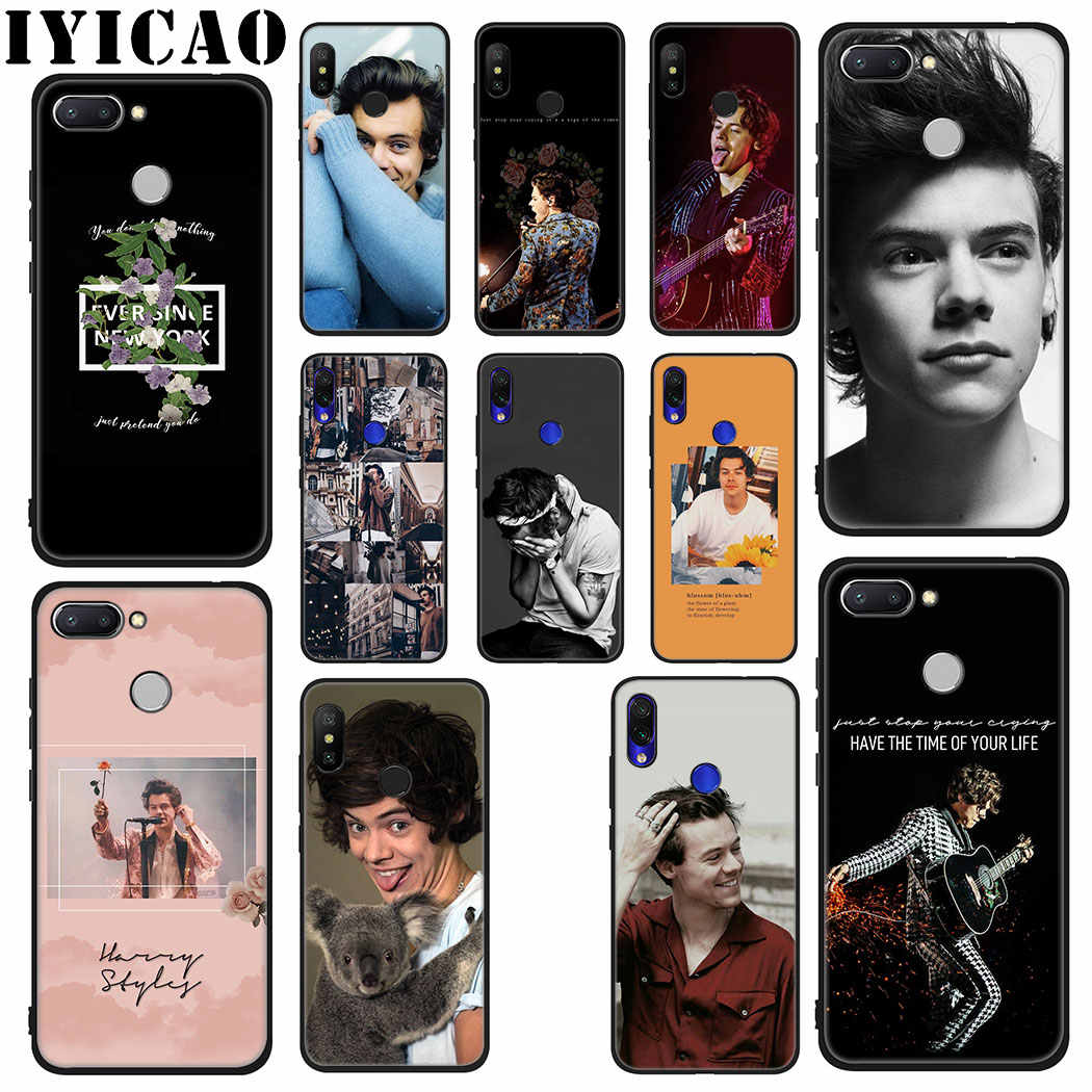 IYICAO Singer Harry Styles Soft Case for Xiaomi Redmi 4A 4X 5A 5 Plus K20 6 Pro 6A 7A 8A 7 S2 Go Phone Case