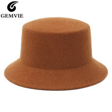 Панама из 100% шерсти gemvie для женщин шляпа федора со средними