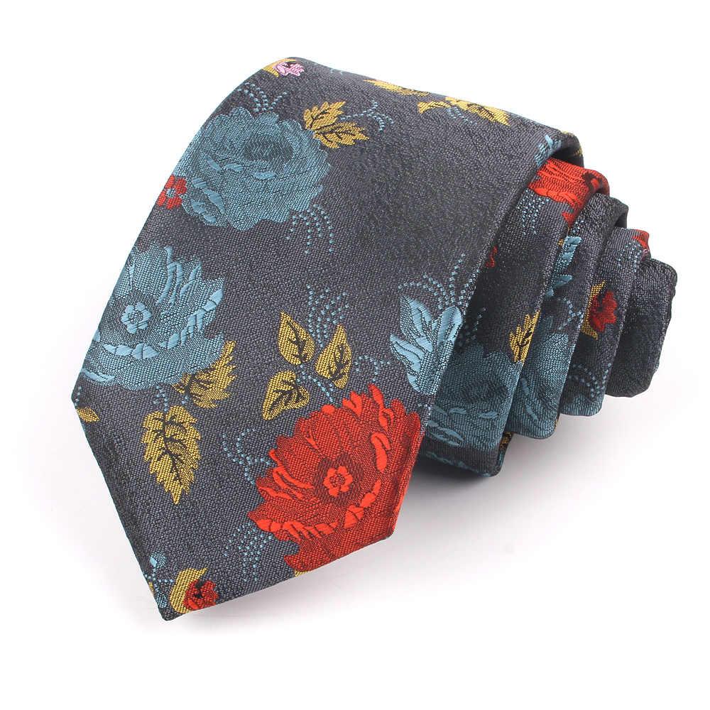 ใหม่ Floral TIES สำหรับผู้ชายแฟชั่นผู้หญิง Skinny คอ Tie สำหรับงานแต่งงาน Casual Mens เนคไทคลาสสิกชุดคอ tie Cravat