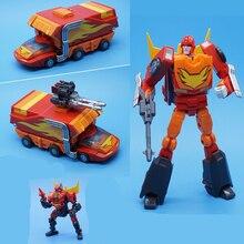 MFT Lodivin figuras de acción de Transformers, parche transformable, comandante de la llama, deformación, MechFans, MS19, MS 19, Mini figura Robot, juguetes, 12cm con caja