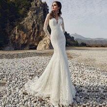 Кружево Свадебные платья Русалочки 2021 элегантный v образный