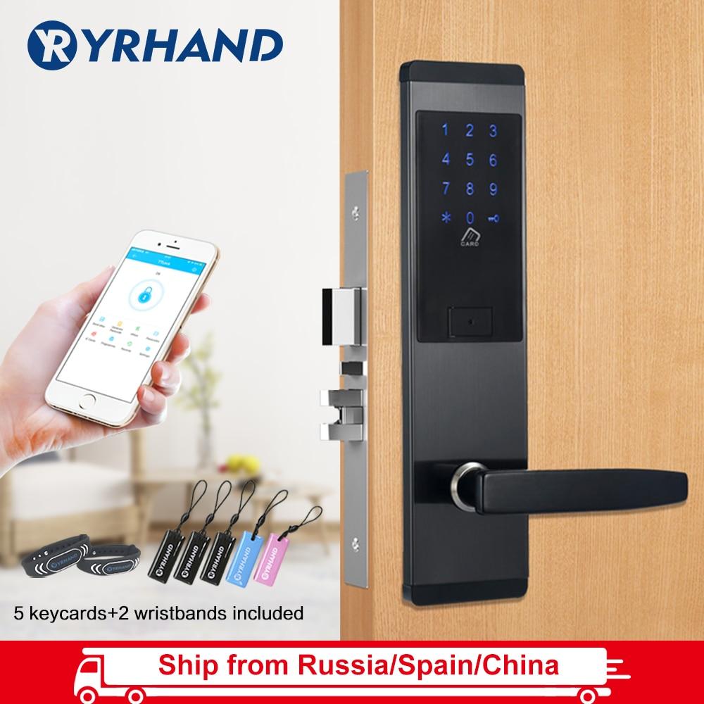 TTlock App Security Electronic Door Lock, APP WIFI Smart Touch Screen Lock,Digital Code Keypad Deadbolt For Home Hotel Apartment