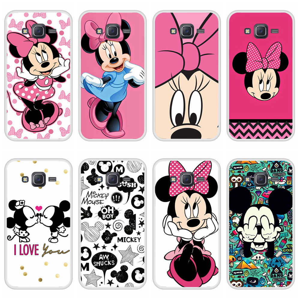 Phone Case for Samsung Galaxy J5 2015 Soft Silicone TPU Mickey Minnie Pattern Printing Coque for Samsung J5 2015 Case