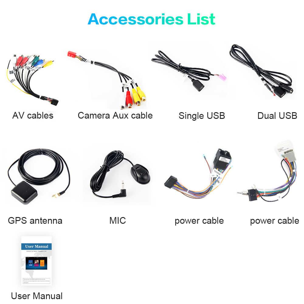 "Android Universal Car 2 Din Radio 7 ""ekran IPS Android 9.0 Stereo Multimedia Bluetooth nawigacja MP3 dla Nissan wbudowany DSP"