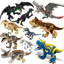 Jurassic dünya 2 acımasız Raptor yapı taşları dinozor tuğla Tyrannosaurus Indominus I t rex oyuncak