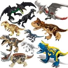 Świat jurajski 2 brutalne klocki Raptor klocki dinozaurów Tyrannosaurus Indominus i rex złożyć zabawkę