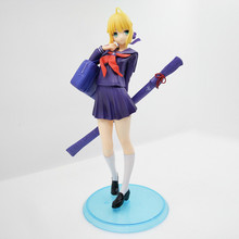 Anime Fate Stay Night Saber School Uniforms Ver PVC Action Figure Collectible Model doll toy 18cm astro 4th mini album dream part 01 ver night ver day release date 2017 05 30