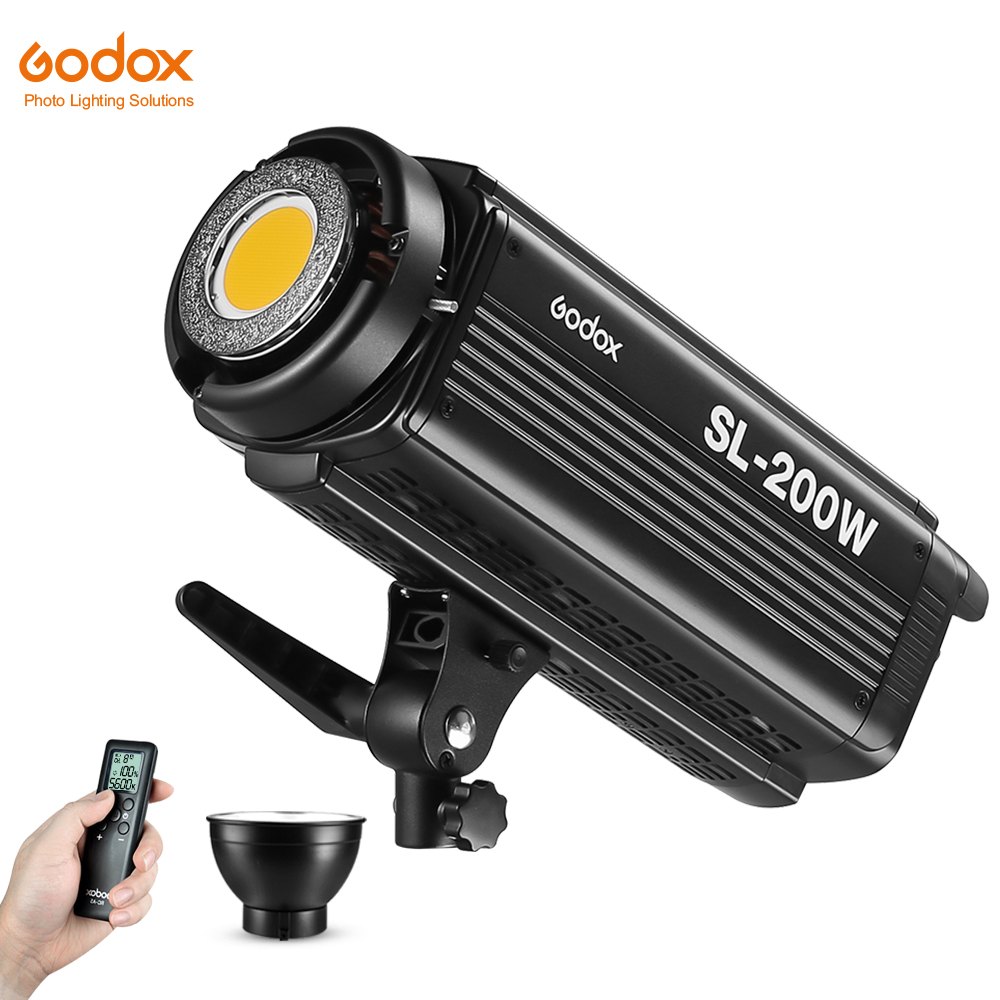 Free DHL Godox SL-200W 200Ws 5600K Studio LED Continuous Photo Video Light Lamp W/ Remote