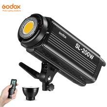 DHL, светодиодный студийный светильник Godox SL-200W 200Ws 5600K с пультом дистанционного управления