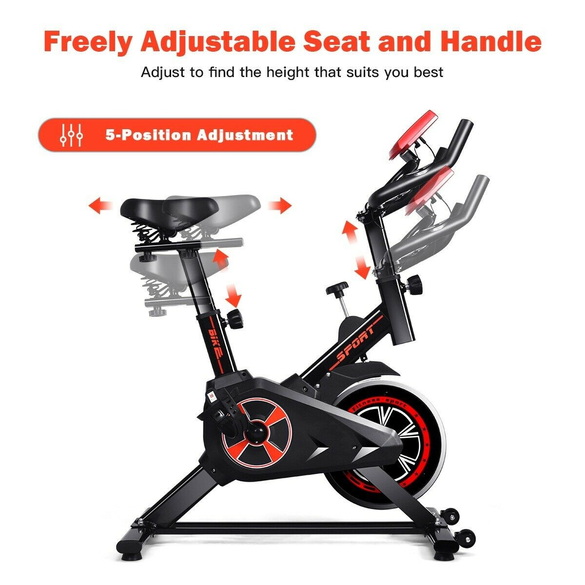 LCD Display Indoor Cycling Gym Cardio Trainer