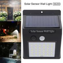 30 LED Solar Garden Light Lamp Motion Sensor Waterproof Outdoor Lighting Decoration Street Lights Security  Wall