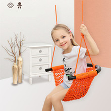Garden Swing Kids Hanging Seat Toys with Height Adjustable Ropes Indoor Outdoor Hanging Chair Garden Seat Swing