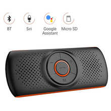 Multi-function Bluetooth Car Speakerphone Hands-free Kit Support SIRI Assistant MP3 Player Adapter 4.2
