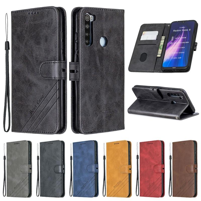 For Xiaomi Redmi Note 8T Case Leather Flip Case on For Coque Xiomi Xiaomi Redmi Note 8T 9S 7 8 9 Pro Max 8A 7A Case Cover Etui()