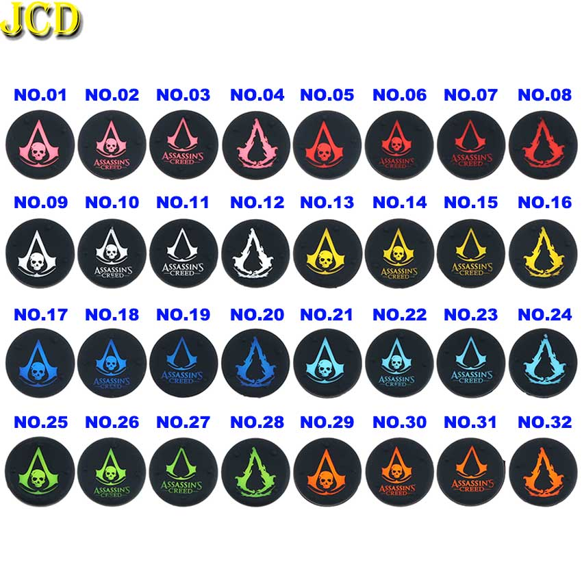 JCD 4PCS Thumb Stick Grips Cover For PS4 Pro Slim Silicone Analog Joystick Cap Cases For Xbox one 360 PS3 PS4 Accessories