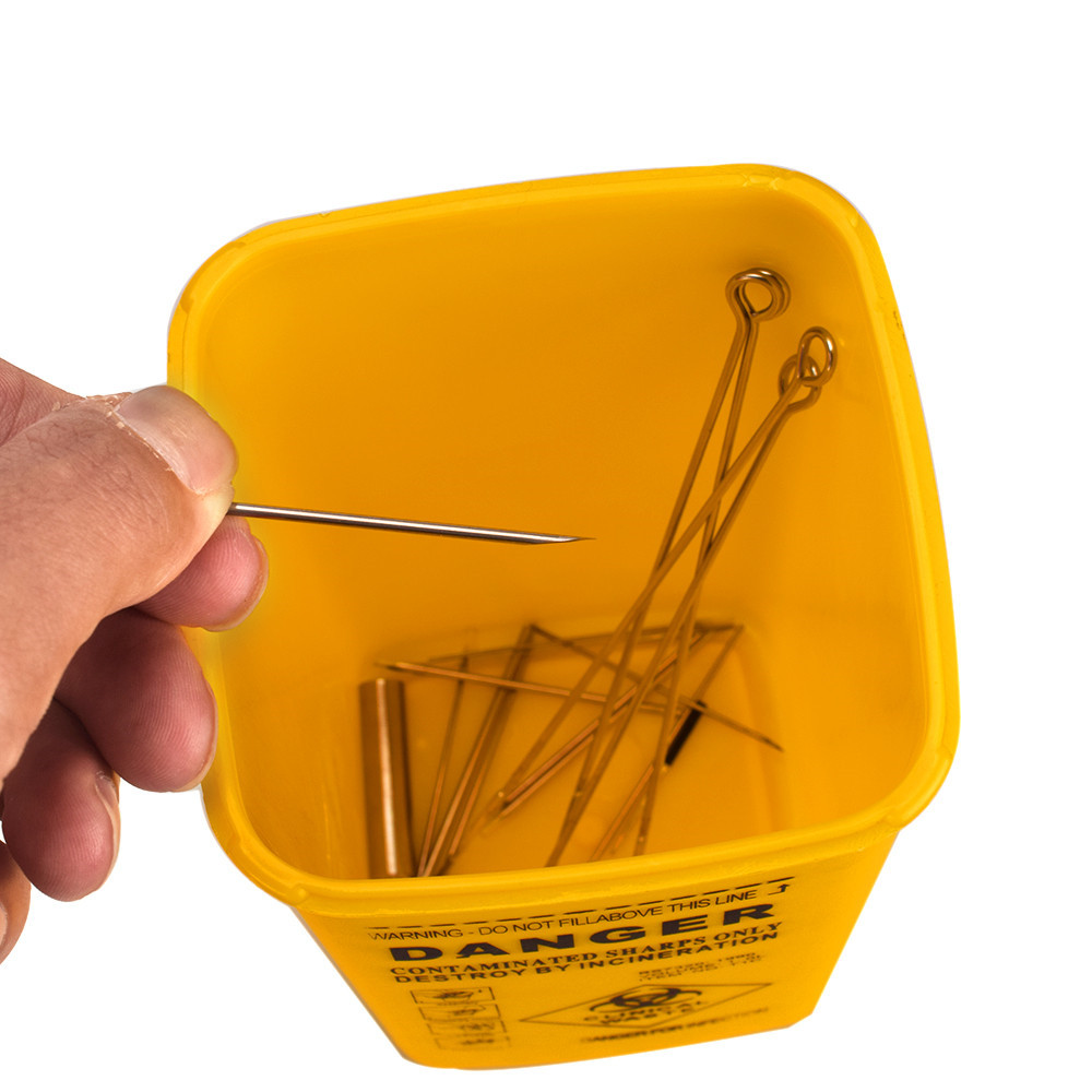 Tattoo Supplies Discard Storage Container Plastic Tattoo Sharps Container Disposable Sharp Needle Tip Box Tattoo Accessories