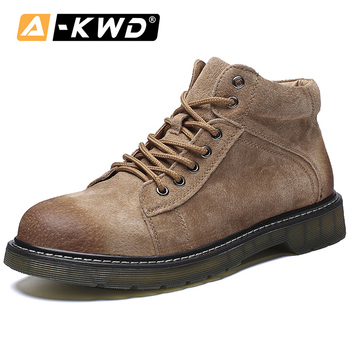 Mens Trainers Elevator Shoes for Men Fashion Shoes 2019 Zapatos Hombre Cuero Genuino Work Safety Shoes Waterproof Non-slip Boots