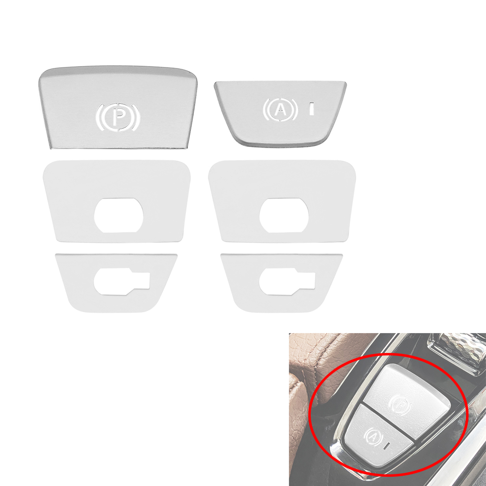 For <font><b>Volvo</b></font> S <font><b>XC</b></font> <font><b>90</b></font> XC60 Electronic Handbrake P Light Button Sequin XC90 2015-2019 / XC60 2018-2019 / S90 <font><b>2017</b></font> 2018 2019 2020 image