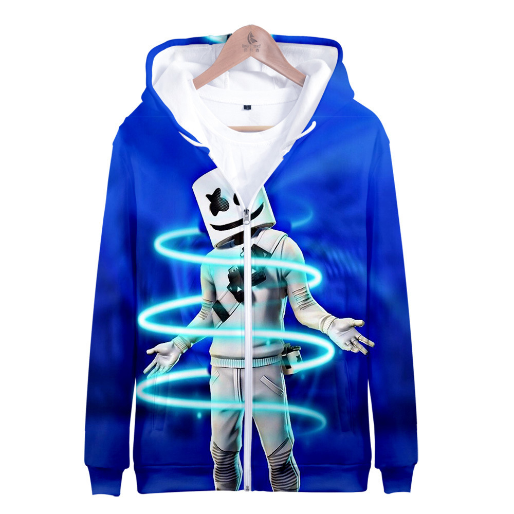 2019 Singer Cotton Candy Fortnite Around 3D Printed Personalized Casual Men And Women Zipper Hoodie