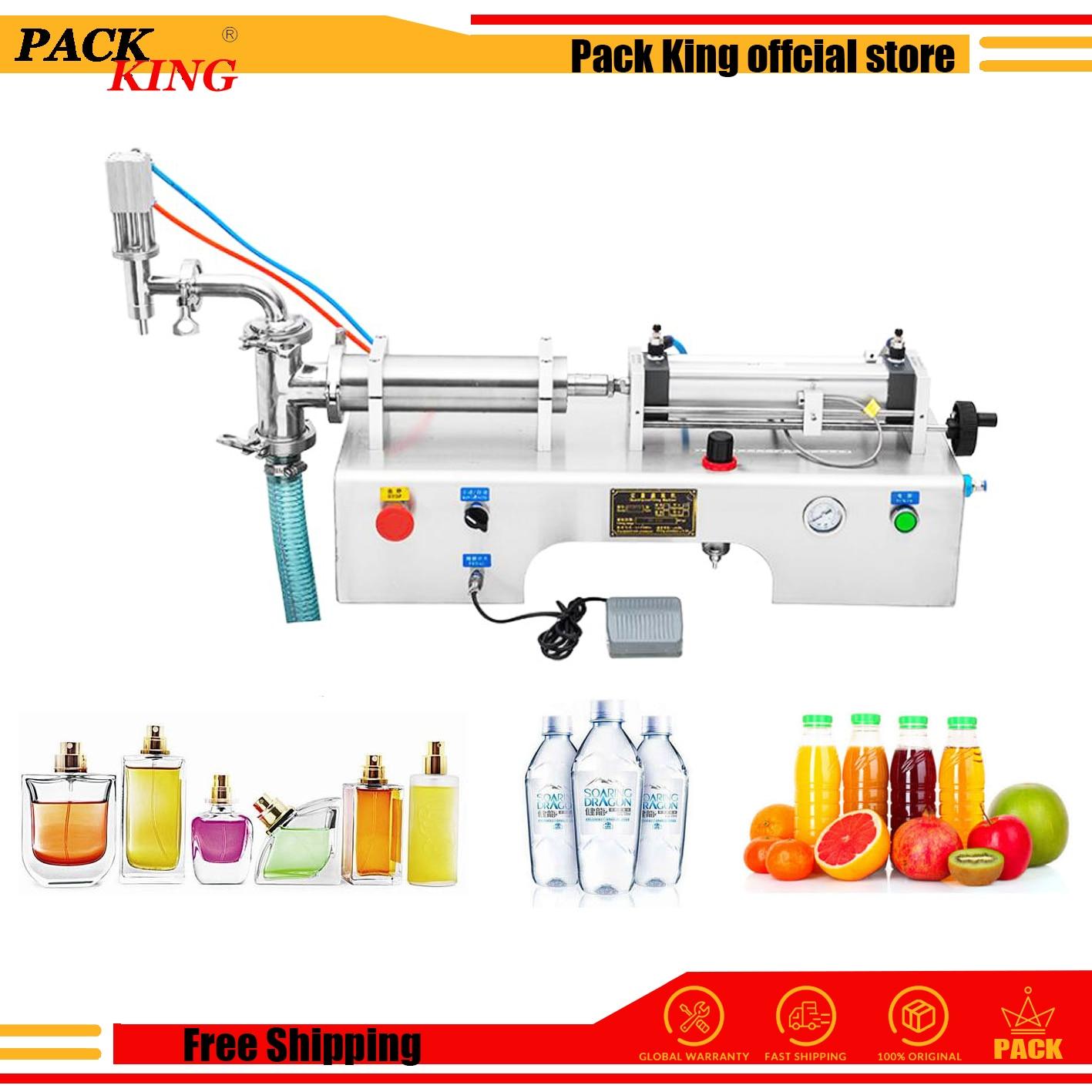 Liquid Filling Machine Juice Wine Piston Filler Milk Drinking Wine Ejuice Water Veniger Soy Sauce Liquor Beverage Free Shipping