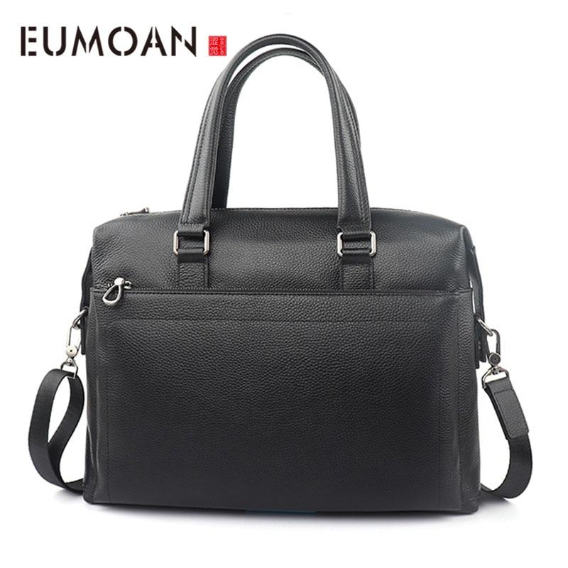AETOO New Business Briefcase Head Layer Cowhide Shoulder Handbag Tide Cross Section Casual Men's Bag