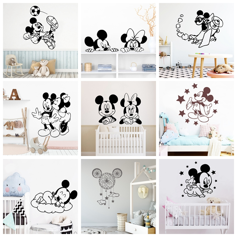 Best Deal 4629 Large Mickey Mouse Wall Stickers Minnie Mouse