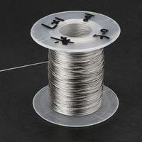 100m 304 Edelstahl Draht Seil Weiche Angeln Heben Kabel 1 × 7 Wäscheleine Mit 30 Aluminium Aderendhülsen-in Hebewerkzeuge & Zubehör aus Werkzeug bei
