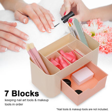 Storage Case Box Plastic for Makeup Nail Tools Empty with 7