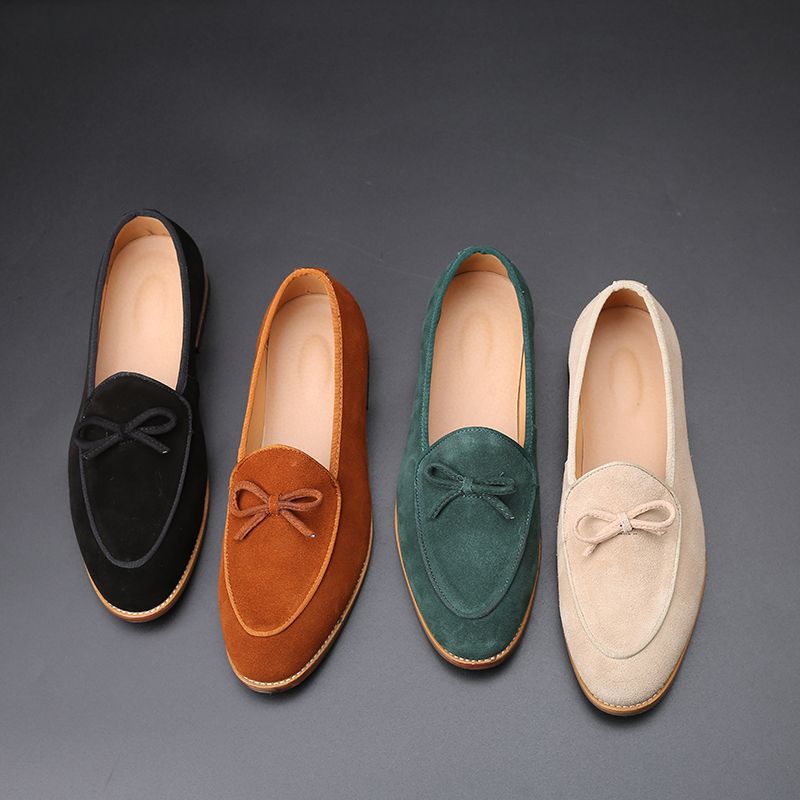 2020 Suede Leather Men Loafer Shoes Fashion Slip On Male Shoes Casual Shoes Man Party Wedding Footwear Big Size 37-47