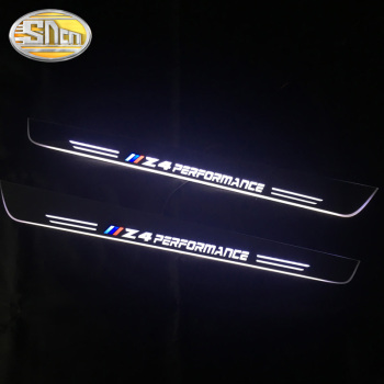 LED Door Sill Scuff Plate Guards Door Sill For BMW E85 E86 E89 G29 Z4 Streamer dynamic welcome door light pedal Car Accessories led door sill moving for bmw 3 touring e46 e91 2004 2012 scuff plate acrylic door sills car welcome light sticker accessories