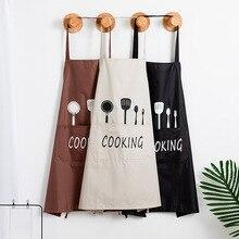 1 adet çizgili su geçirmez Polyester önlük kadın yetişkin önlükler ev pişirme pişirme kahve dükkanı temizlik önlükleri mutfak aksesuarı 46212