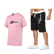 2021 new fashion hot sale printed T-shirt sports suit quick-drying casual running wear summer short-sleeved shorts 2-piece set