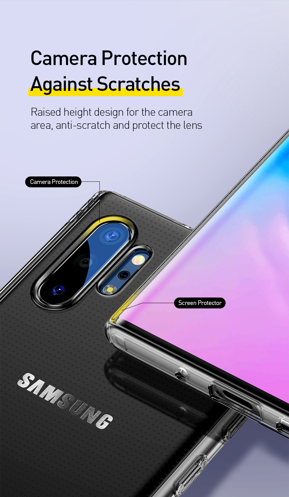 Baseus Shockproof Case For Samsung Galaxy Note 10 Case Note 10 Pro Case Soft Silicone Transparent Back Cover for Galaxy Note 10