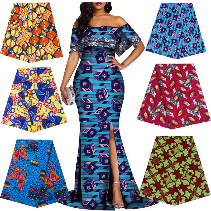 Africain Nigeria prints patchwork real dutch wax tissu cotton top quality wholesale sewing wedding dress material DIY 6yards