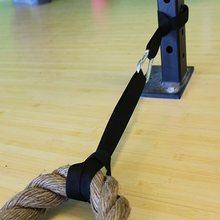 Çapa halatı bağlama kancası askı seti 2 naylon sapanlar 1 Metal karabina korumak için Crossfit halat dalgalanma eğitim egzersiz Fitness