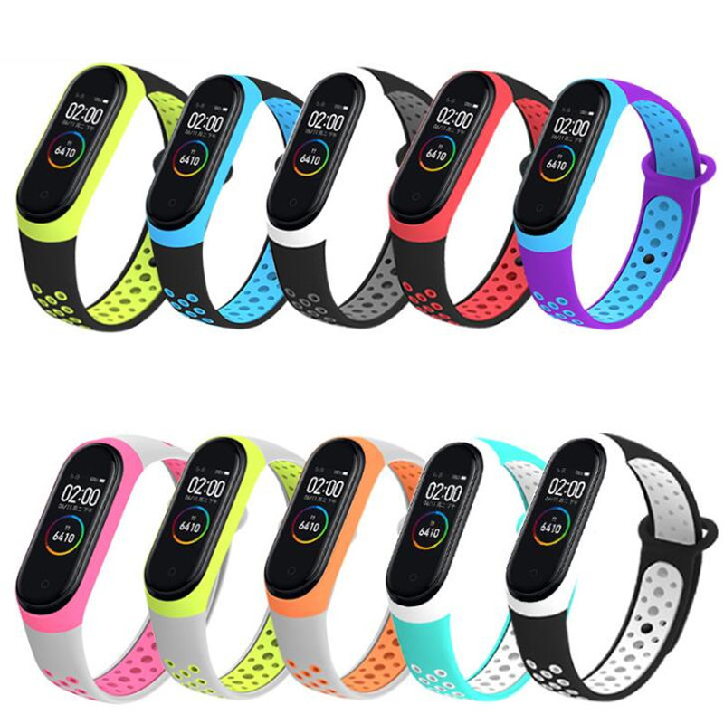 Strap For Xiaomi Mi Band 4 Smart Band Accessories Case For Xiaomi Miband 4 Smart Wristband Strap Spot Goods Band Two-color