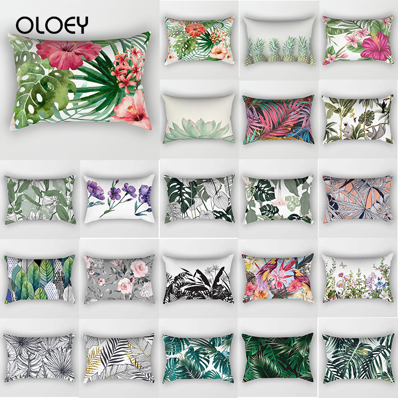 Tropical Beauty Flower Plant Travel Bedroom Cushion Cover Rectangular Cushion Cover Sleeping Cushion Cover Decoration 30 * 50 Cm