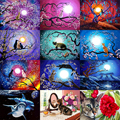 Animal cat 5D Diamond painting sticker round mosaic diamond embroidery cross stitch home decor craft