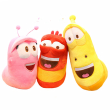 3pcs/lot Korean Anime Fun Insect Slug Creative Larva Plush Toys Cute Stuffed Worm Dolls for Children Birthday Gift Hobbies