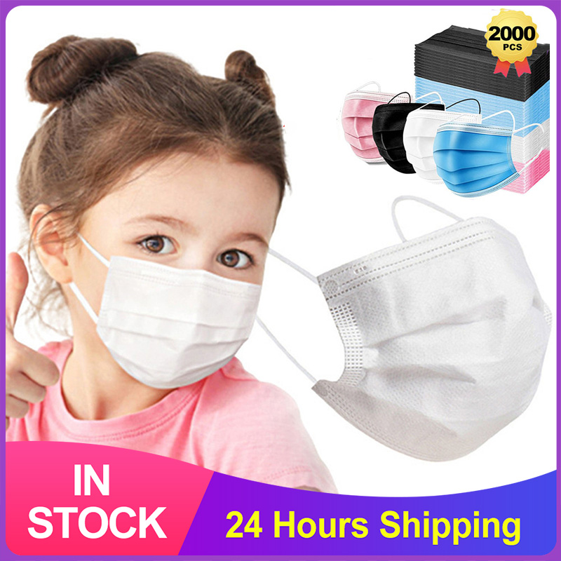 Child Disposable Medical Mask 3 Layer Ply Filter Mouth Face Mask Safe Breathable Protective Surgical