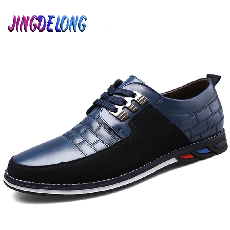 Hot Sale Mens Casual Shoes Quality Leather Mens Shoes Classic Comfortable Mens Buiness Formal Shoes Fashion Splice Men Loafers