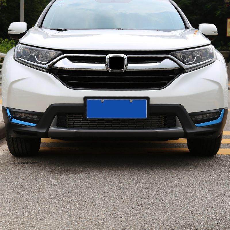 For <font><b>Honda</b></font> <font><b>crv</b></font> CR-V 2017 <font><b>2018</b></font> 2019 Front fog light decorative strip front lampshade light frame bright strip body trim strip modi image