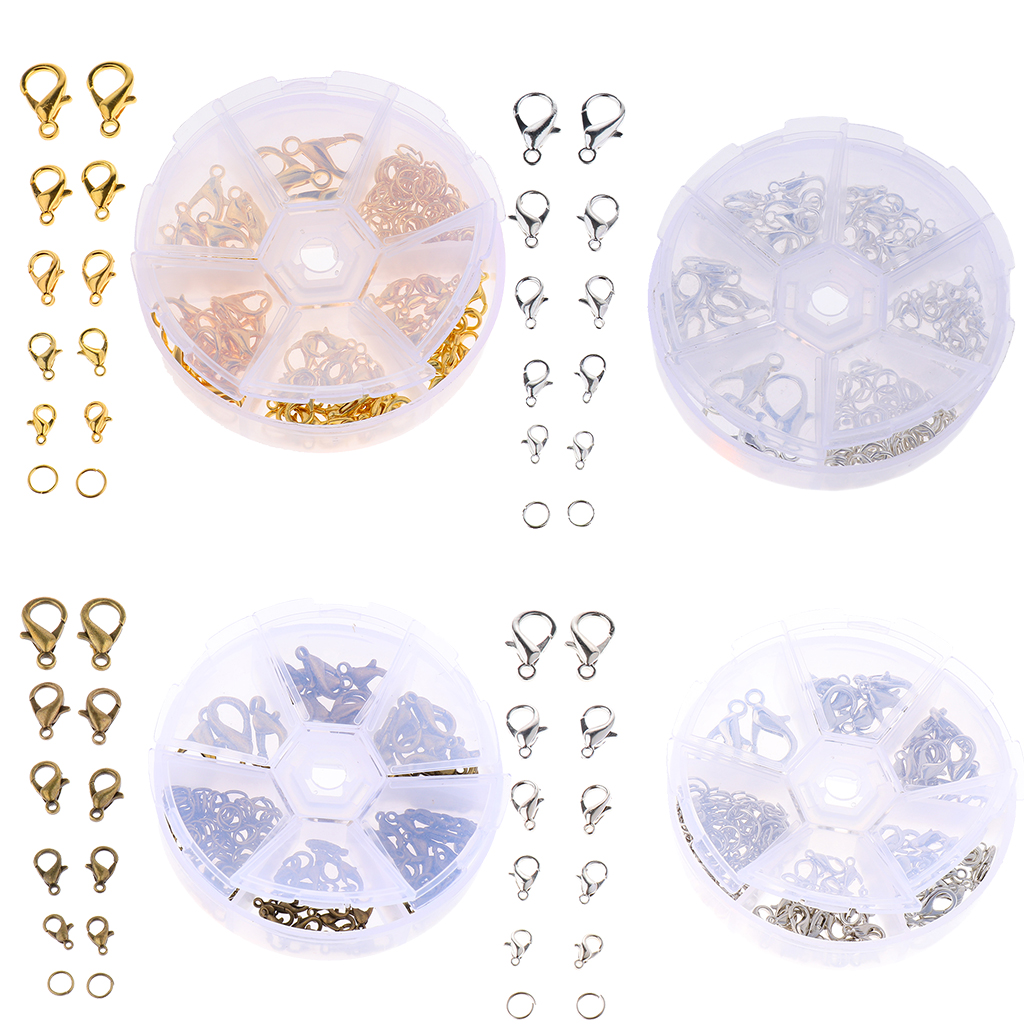 Jewelry Findings Starter Kit Lobster Claw Clasps Open Jump Rings Jewelry Making