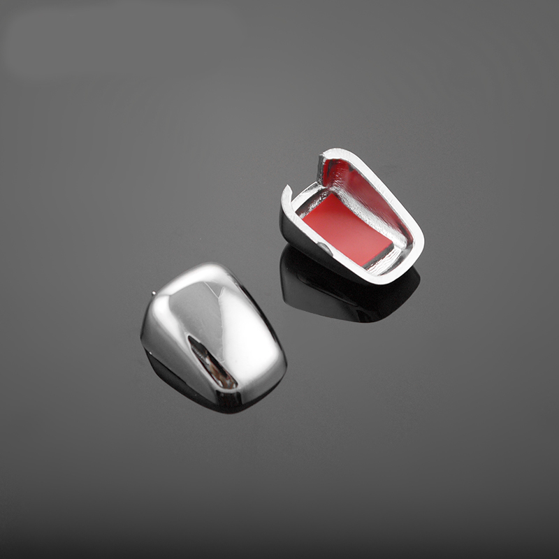 2011-2015 ABS <font><b>Chrome</b></font> Trim Wiper Water Spray Nozzle Decoration Cover For Dodge Journey <font><b>Jeep</b></font> <font><b>Compass</b></font> Liberty Grand Cherokee 2pcs image
