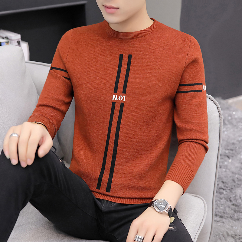 Cotton Sweater Men Long Sleeve Pullovers Outwear Man O-Neck sweaters Tops Slim Knitted Sweater Homme Hip Hop Sweater