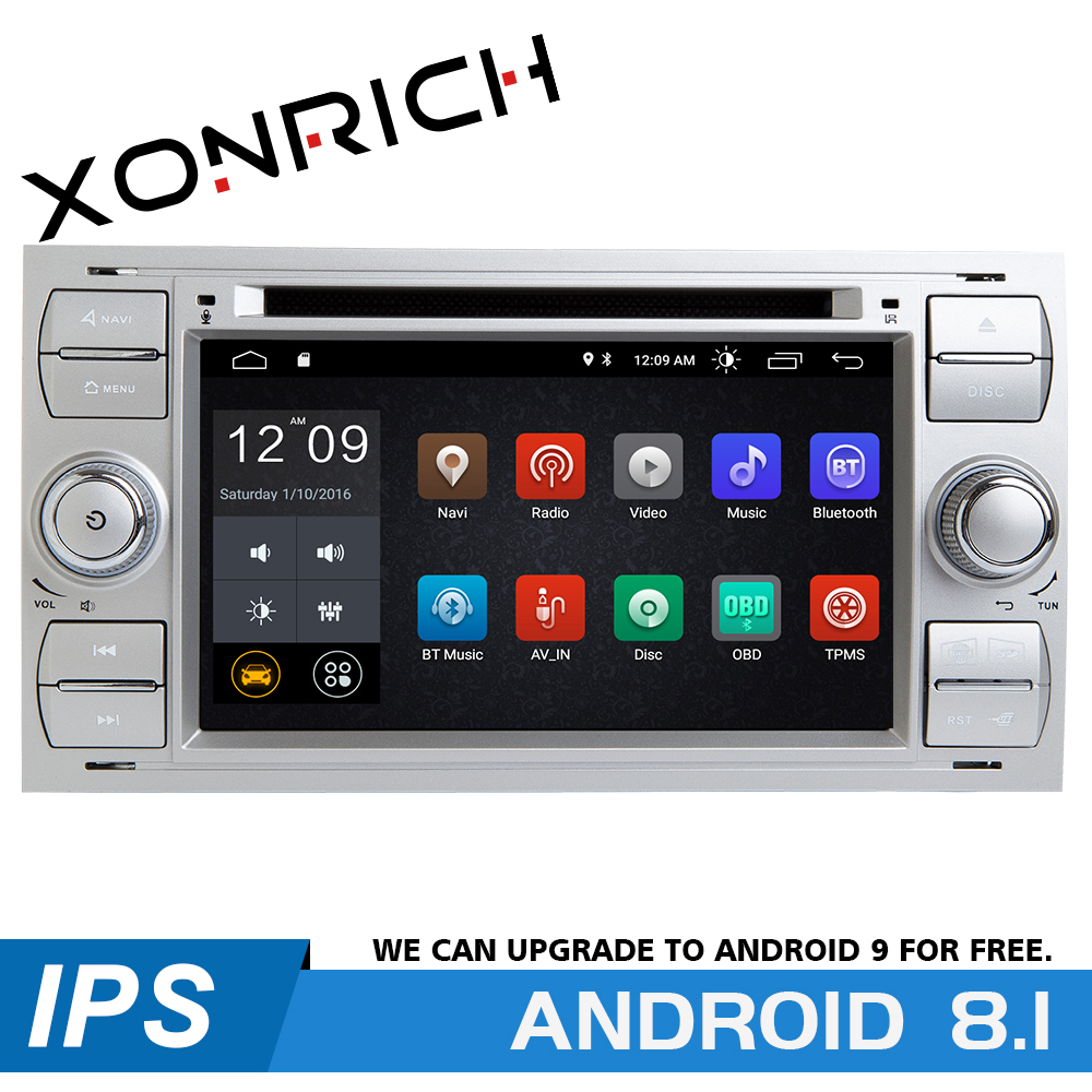 2 din Android 8.1 Car DVD Player Multimedia For <font><b>Ford</b></font> Fiesta <font><b>Ford</b></font> <font><b>Focus</b></font> 2 Mondeo 4 C-Max S-Max FusionTransit Radio GPS <font><b>Navigation</b></font> image