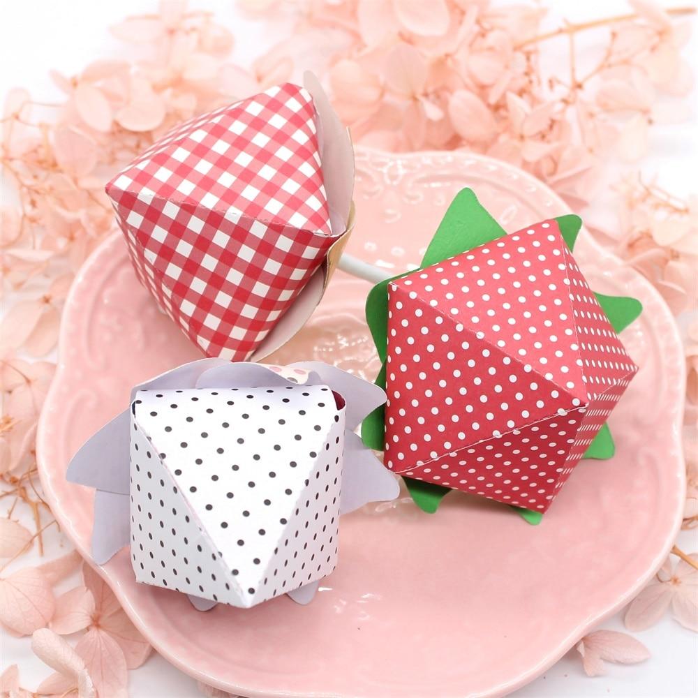 KLJUYP Strawberry Lollipop Holder Metal Cutting Dies Scrapbook Paper Craft Decoration Dies Scrapbooking